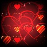 Υπόβαθρο υπό μορφή καρδιών Στοκ φωτογραφία με δικαίωμα ελεύθερης χρήσης