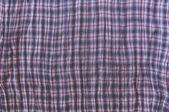 Υπόβαθρο υφάσματος ρυτίδων ελέγχου Μπλε σύσταση χρώματος Στοκ Φωτογραφία