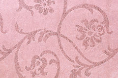 Υπόβαθρο υφάσματος, υφαντικό σχέδιο ταπήτων με τη floral διακόσμηση Στοκ Φωτογραφία