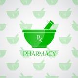 Υπόβαθρο φαρμακείων - κονίαμα στο πράσινο χρώμα Στοκ Εικόνες