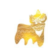 Υπόβαθρο φεστιβάλ χορού λιονταριών παραδοσιακού κινέζικου Στοκ φωτογραφία με δικαίωμα ελεύθερης χρήσης