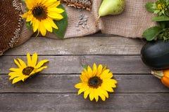 Υπόβαθρο φθινοπώρου στο ξύλο στοκ φωτογραφία με δικαίωμα ελεύθερης χρήσης