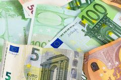 Υπόβαθρο φιαγμένο από ευρο- τραπεζογραμμάτια στοκ φωτογραφία με δικαίωμα ελεύθερης χρήσης