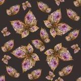 Υπόβαθρο φιαγμένο από πεταλούδες των διάφορων λουλουδιών Στοκ Φωτογραφία