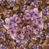 Υπόβαθρο φιαγμένο από πεταλούδες των διάφορων λουλουδιών Στοκ Φωτογραφίες