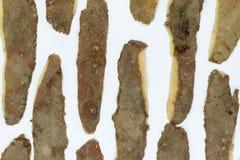 Υπόβαθρο φλουδών πατατών στοκ φωτογραφίες