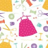 Υπόβαθρο φορεμάτων παιδιών Στοκ Φωτογραφίες