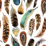 Υπόβαθρο φτερών Watercolor Στοκ φωτογραφία με δικαίωμα ελεύθερης χρήσης