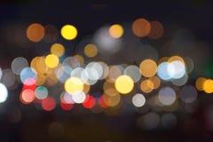 Υπόβαθρο φωτεινών σηματοδοτών πόλεων νύχτας bokeh Στοκ φωτογραφία με δικαίωμα ελεύθερης χρήσης