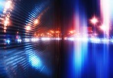 υπόβαθρο φωτισμού πόλεων νύχτας της δεκαετίας του '90 της δεκαετίας του '80 ελεύθερη απεικόνιση δικαιώματος