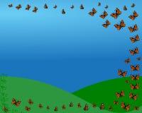 Πτήση πεταλούδων Στοκ Εικόνες