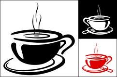 Υπόβαθρο φλιτζανιών του καφέ Στοκ εικόνα με δικαίωμα ελεύθερης χρήσης