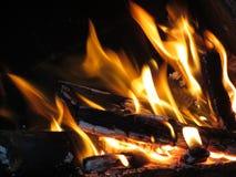 Υπόβαθρο φλογών πυρκαγιάς φύσης Στοκ Φωτογραφίες
