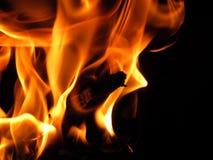 Υπόβαθρο φλογών πυρκαγιάς φύσης Στοκ Εικόνες