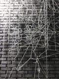 Υπόβαθρο χάλυβα Abstact Στοκ Εικόνα
