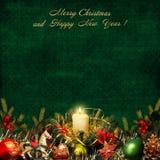 Υπόβαθρο χαιρετισμού Χριστουγέννων Στοκ φωτογραφία με δικαίωμα ελεύθερης χρήσης