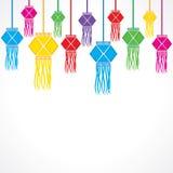 Υπόβαθρο χαιρετισμού Diwali με την ένωση των λαμπτήρων Στοκ φωτογραφίες με δικαίωμα ελεύθερης χρήσης