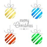 Υπόβαθρο Χαρούμενα Χριστούγεννας Απεικόνιση αποθεμάτων