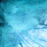 Υπόβαθρο χειμερινής τυρκουάζ κυανό αφηρημένο σύστασης Watercolor Στοκ εικόνες με δικαίωμα ελεύθερης χρήσης