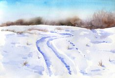 Υπόβαθρο χειμερινού watercolor Στοκ φωτογραφία με δικαίωμα ελεύθερης χρήσης