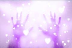 Υπόβαθρο χεριών και καρδιών Στοκ εικόνα με δικαίωμα ελεύθερης χρήσης