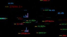 Υπόβαθρο χρηματιστηρίου Θύελλα στοιχείων διανυσματική απεικόνιση