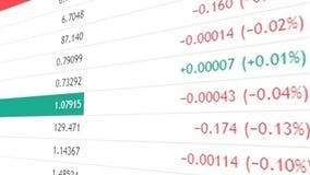 Υπόβαθρο χρηματοδότησης ή χρηματιστηρίου με τα ψηφία και percents απεικόνιση αποθεμάτων