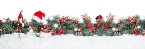Υπόβαθρο Χριστουγέννων, έμβλημα Στοκ Φωτογραφία