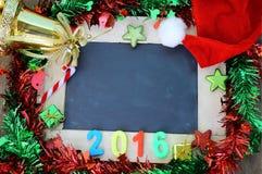 Υπόβαθρο Χριστουγέννων και νέα διακόσμηση έτους Στοκ Φωτογραφίες
