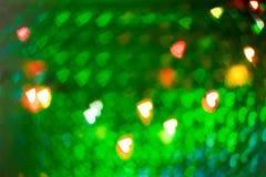 Υπόβαθρο Χριστουγέννων καρδιών bokeh Στοκ Φωτογραφίες