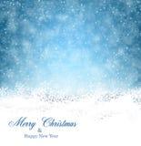 Υπόβαθρο Χριστουγέννων με πεσμένα snowflakes Στοκ φωτογραφία με δικαίωμα ελεύθερης χρήσης