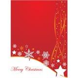 Υπόβαθρο Χριστουγέννων με τα αστέρια και τα λωρίδες Στοκ Εικόνα