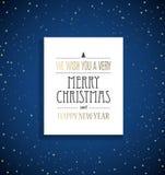 Υπόβαθρο Χριστουγέννων με την ετικέτα αστεριών και Χαρούμενα Χριστούγεννας Στοκ φωτογραφία με δικαίωμα ελεύθερης χρήσης