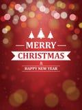 Υπόβαθρο Χριστουγέννων με την τυπογραφία Στοκ Φωτογραφίες