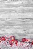 Υπόβαθρο Χριστουγέννων με την όμορφη διακόσμηση Στοκ εικόνα με δικαίωμα ελεύθερης χρήσης