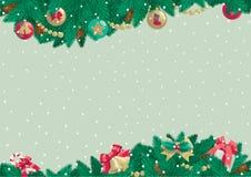Υπόβαθρο Χριστουγέννων με τη θέση για το κείμενο Στοκ φωτογραφία με δικαίωμα ελεύθερης χρήσης
