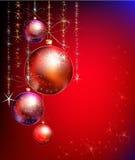 Υπόβαθρο Χριστουγέννων με τη σφαίρα διανυσματική απεικόνιση
