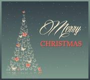 Υπόβαθρο Χριστουγέννων με τις πεταλούδες Στοκ φωτογραφία με δικαίωμα ελεύθερης χρήσης