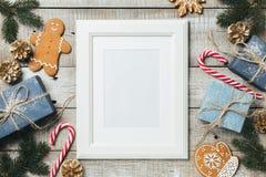 Υπόβαθρο Χριστουγέννων με το διάστημα για το κείμενο στοκ φωτογραφίες