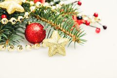 Υπόβαθρο Χριστουγέννων με το χρυσό αστέρι Στοκ φωτογραφίες με δικαίωμα ελεύθερης χρήσης