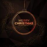 Υπόβαθρο Χριστουγέννων με το χρυσό μαγικό αστέρι επίσης corel σύρετε το διάνυσμα απεικόνισης Στοκ Φωτογραφίες