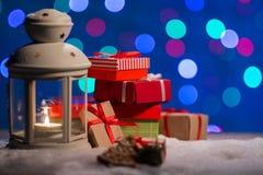 Υπόβαθρο Χριστουγέννων με το bokeh Στοκ Εικόνες