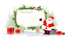 Υπόβαθρο Χριστουγέννων με Santa Στοκ Εικόνες