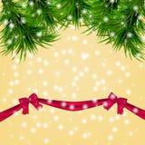 Υπόβαθρο Χριστουγέννων με snowflakes, χριστουγεννιάτικο δέντρο ελεύθερη απεικόνιση δικαιώματος