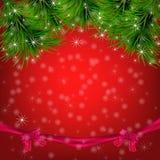 Υπόβαθρο Χριστουγέννων με snowflakes, χριστουγεννιάτικο δέντρο Στοκ εικόνες με δικαίωμα ελεύθερης χρήσης