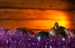 Υπόβαθρο Χριστουγέννων, παιχνίδια Χριστουγέννων Στοκ εικόνες με δικαίωμα ελεύθερης χρήσης