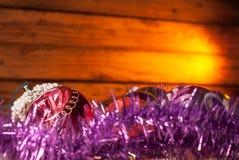 Υπόβαθρο Χριστουγέννων, παιχνίδια Χριστουγέννων Στοκ Εικόνα