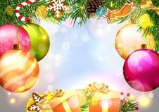 Υπόβαθρο Χριστουγέννων πολυτέλειας απεικόνιση αποθεμάτων