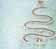 Υπόβαθρο Χριστουγέννων στο αλεύρι Στοκ φωτογραφία με δικαίωμα ελεύθερης χρήσης