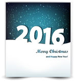 Υπόβαθρο Χριστουγέννων του νυχτερινού ουρανού και του έτους 2016 Στοκ εικόνα με δικαίωμα ελεύθερης χρήσης